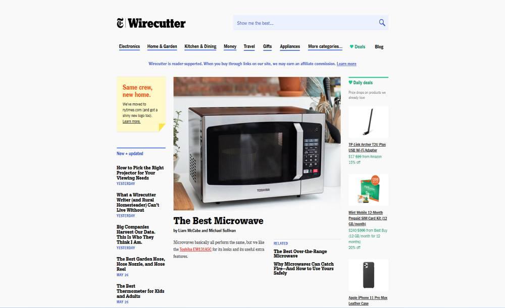 سایت افیلیت مارکتینگ Wirecutter