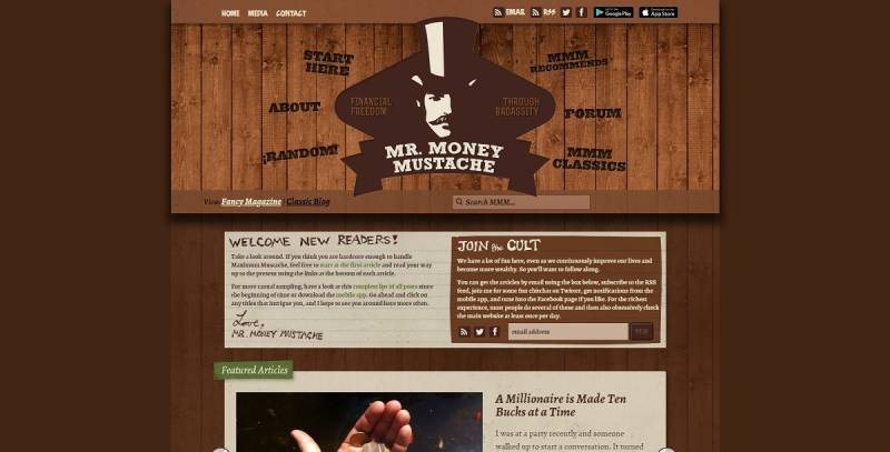 شرکت افیلیت مارکتینگ Mr. Money Moustache