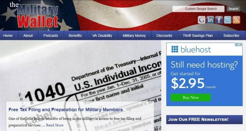 سایت افیلیت مارکتینگ The Military Wallet